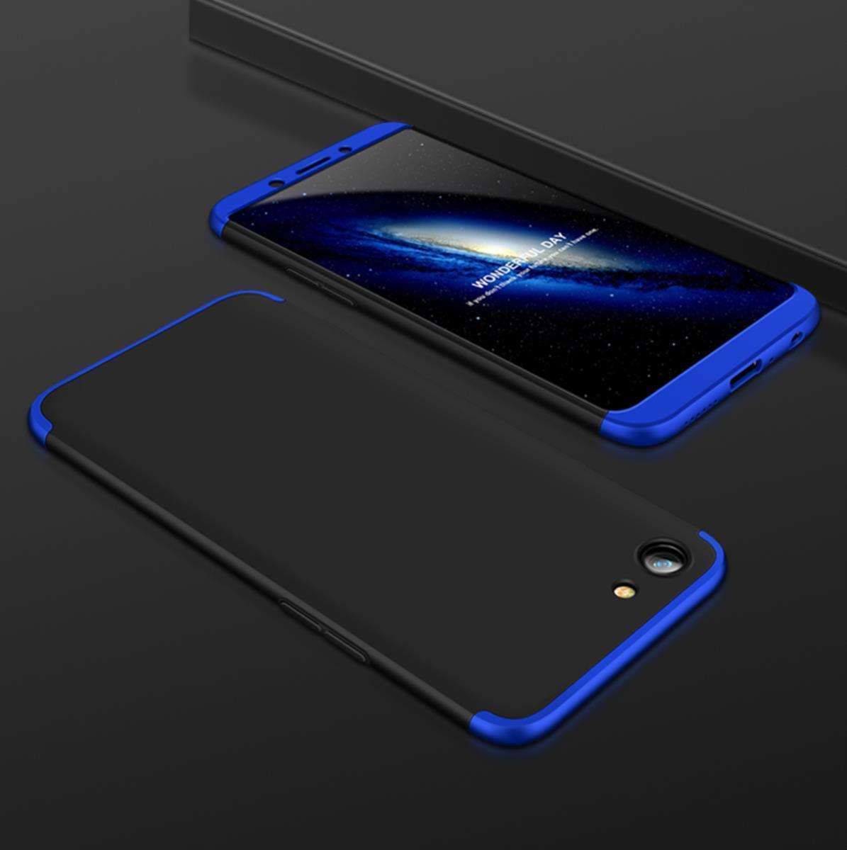 HUAWEI MATE 10 LITE - 3 In 1 360 Degree Back Cover In Black & BLUE