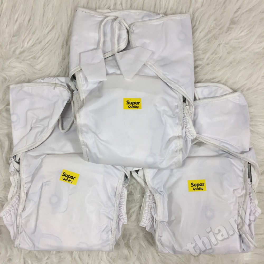 Best Quality Pack Of 3 Newborn Baby Reusable Washable Diaper Nappy with Magic Tapes and Nod Available in Different Sizes - Infant Toddler Bornbaby Cloth Plastic Diapers At Thia.pk