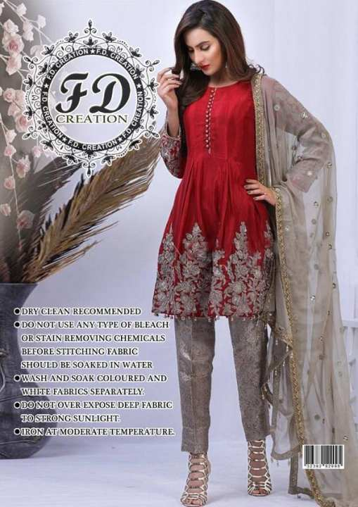 Ladies Embroidery chiffon Suite