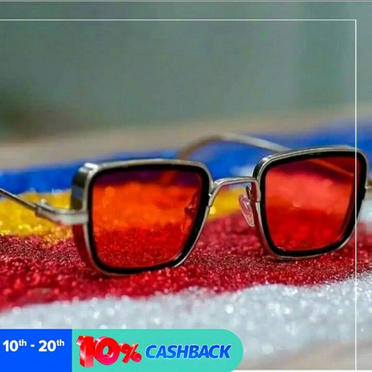 Kabir Singh India Movie Sunglasses Men Square Retro Cool Sun Shades Steampunk Style Sun Glasses for Men