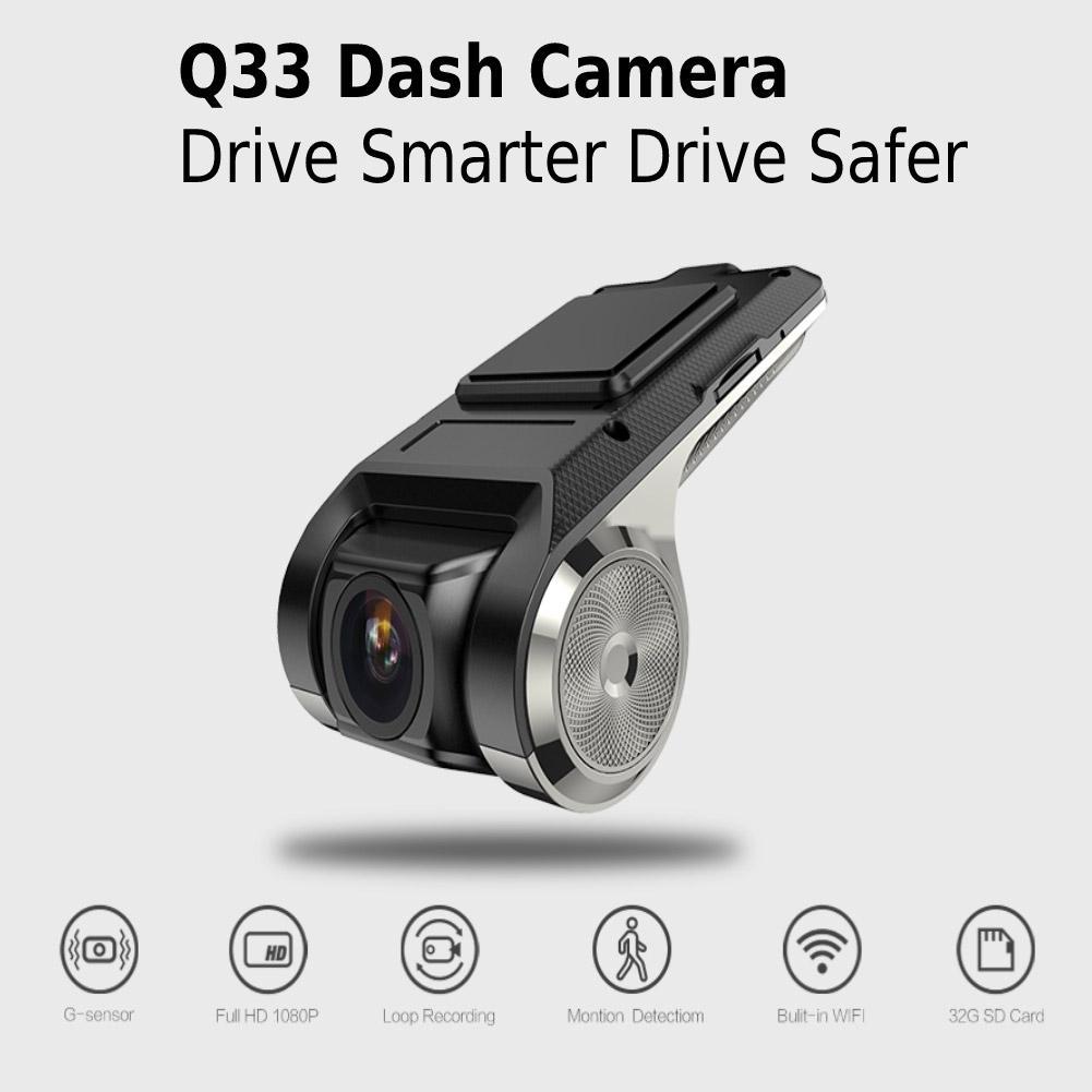 Q33 Mini Car DVR DVRs Camera Full HD 1080P Auto Digital Video Recorder  Camcorder G-sensor 150 Degree Dash Cam Specification:Q33