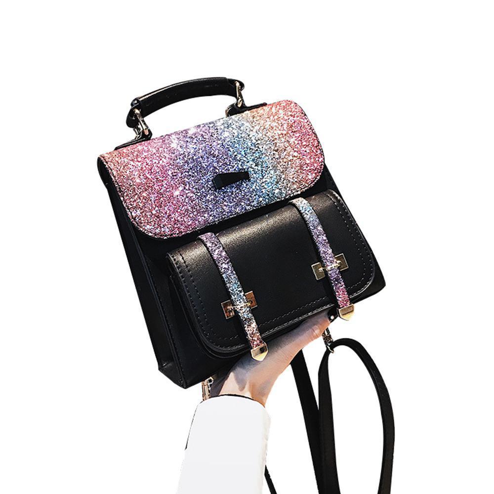 7af964405da Women Backpack Ladies Rucksack PU Leather School bags Anti-theft Daypack  Shoulder Bags