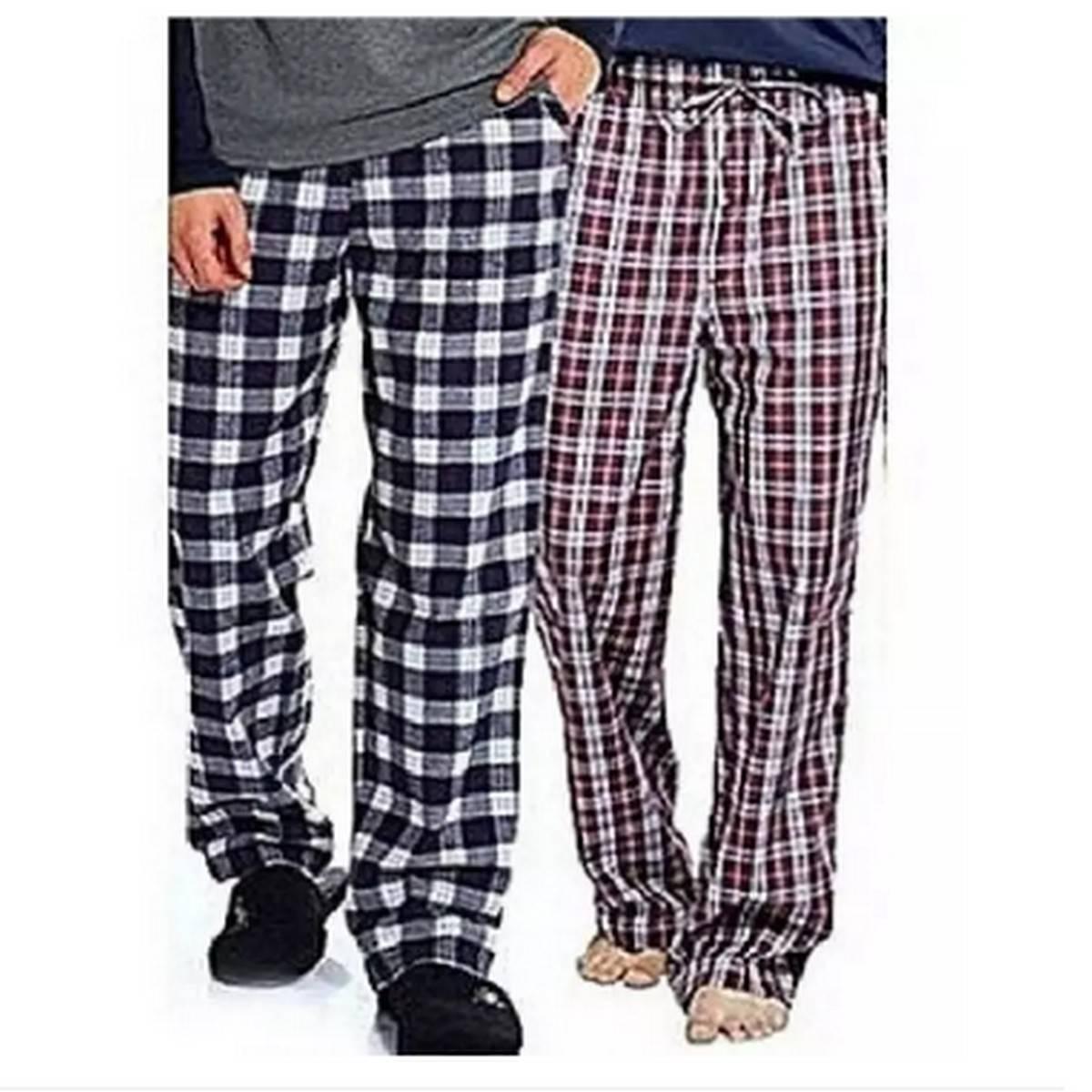 Multicolored Cotton Checkered Trouser for Men 2 pcs