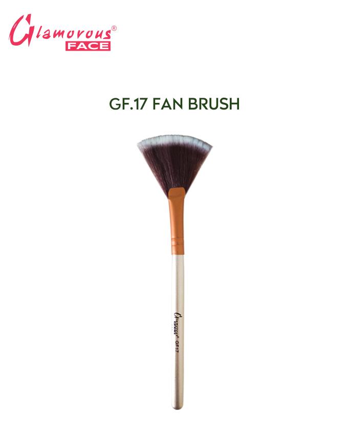 Glamorous Face Fan Brush, Highlighter Brush, Professional fluffy Highlighter Powder Brush 17