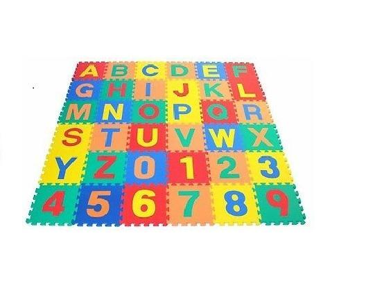 ABC & 123 Puzzle Foam Floor Mat for kids 12cm x 12cm