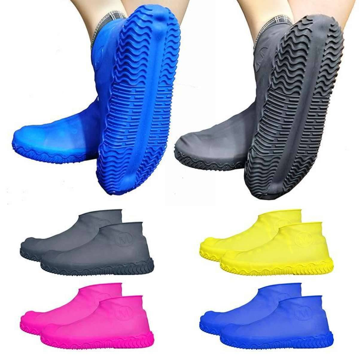 Thicken Waterproof Silicone Gel Shoe Cover Rain Cusodie for shoes Reusable Rubber Gum Anti-slip Shoe Covers for Protection Boots