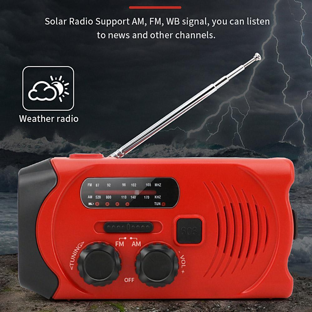 Goglor Emergency Weather Radio,Hand Crank Self Powered AM FM NOAA Weather  Radios with LED Flashlight for Smart Phone,SOS Alarm Outdoor Survival Device