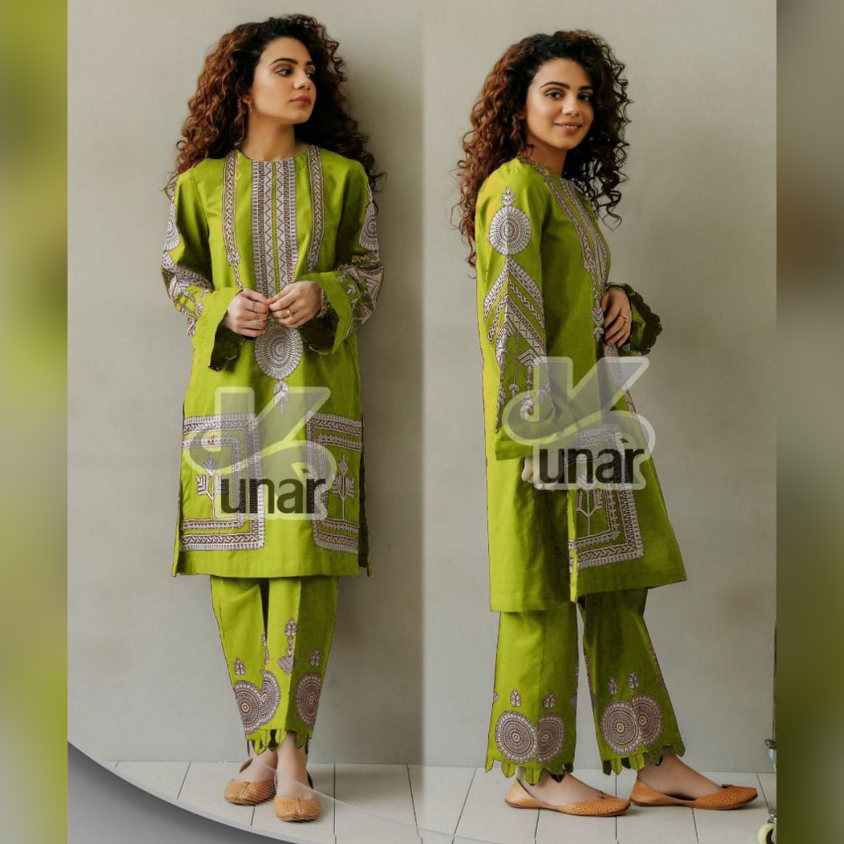 WPM Designer Embroidered Summer Suit (2 PCs) Kurta Shalwer for Women / Girls / Ladies (Bring your Style / Be in your Style - Party Fashion / Latest Summer Collection 2021) Ready to wear / Readymade (Limited Stock / Limited Time Offer Sale) Mid Year Sale
