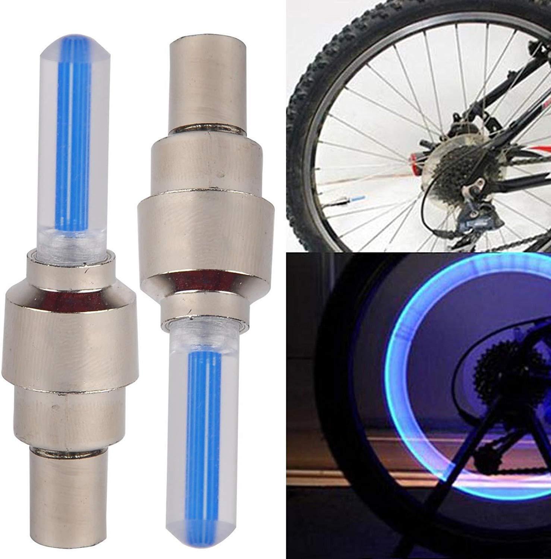4pcs  LED Valve Cap Bicycle Cycling Bike Motor Wheel Tire  Light Spoke Lamp