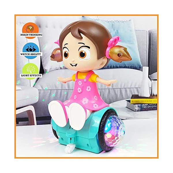 Musical Dancing Spinning Doll with Flashing Lights  Light and Sound