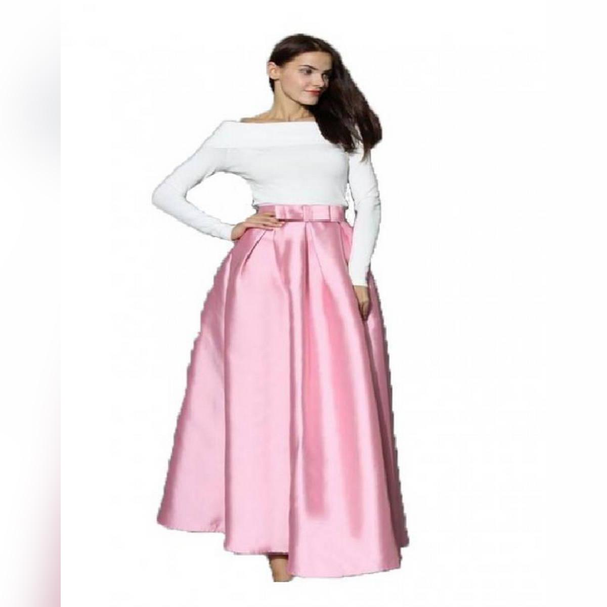Pleated Silk Skirt – Baby Pink