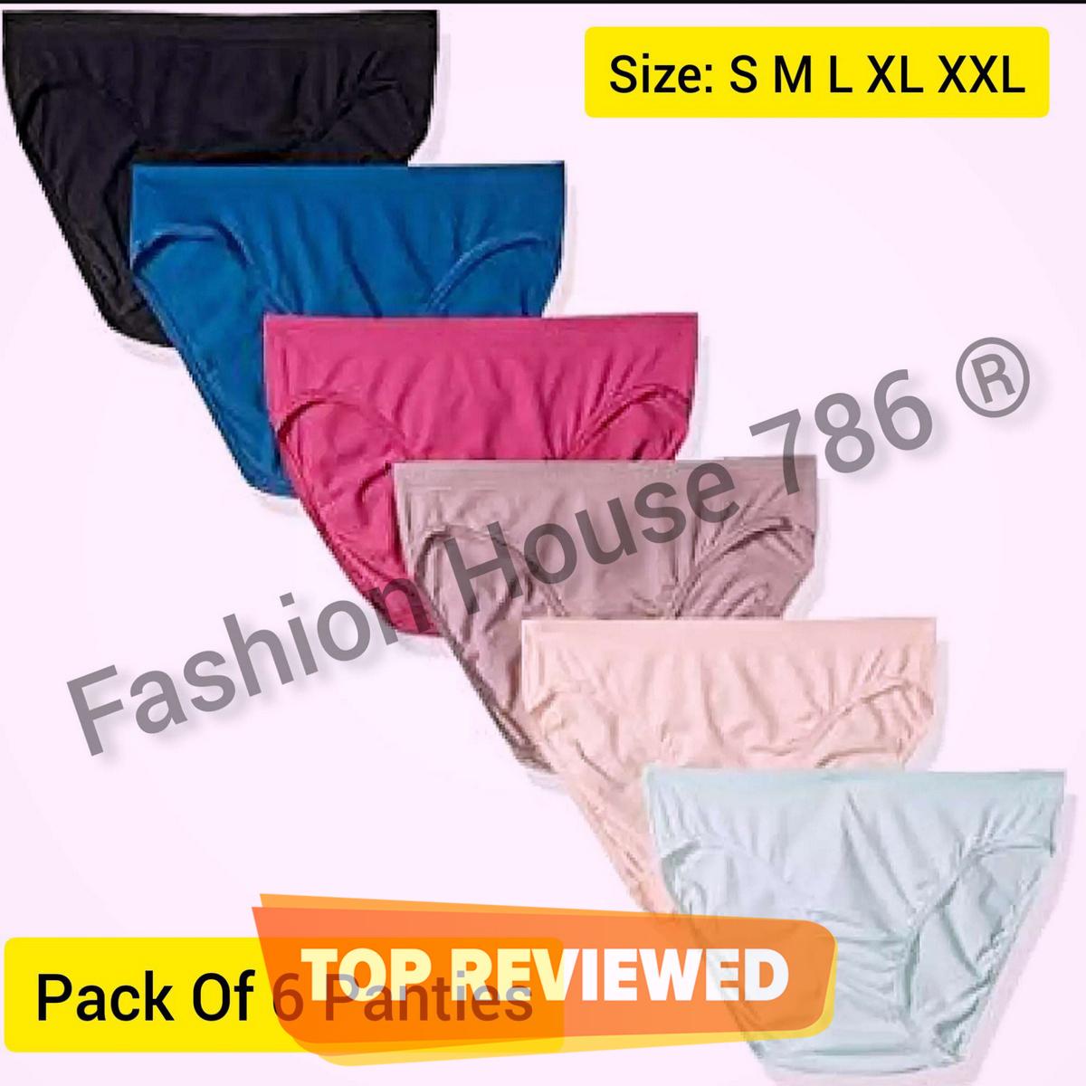 Pack Of 6 Ladies Underwears Ladies Panties and Underwears Cotton Panties and Underwears  Best Quality Underwears