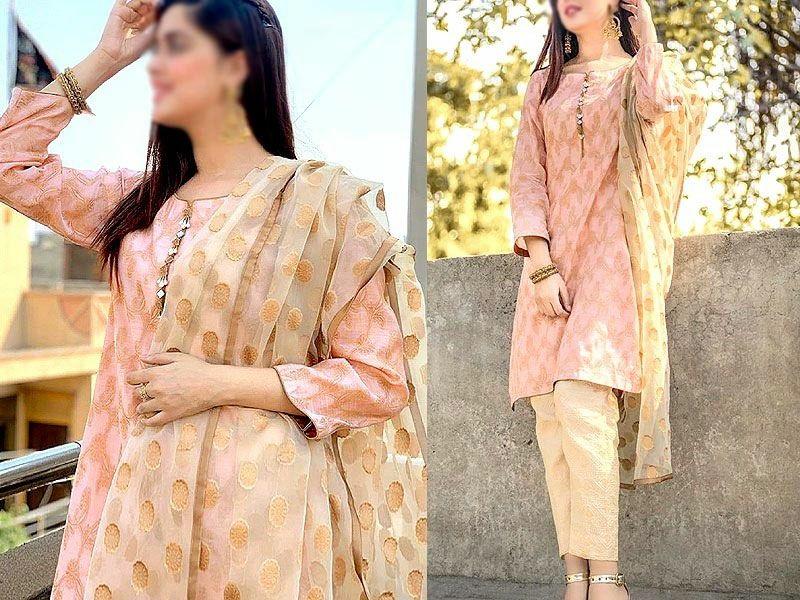 Kanwal Afttab Trending Fancy Banarsi Cotton Jacquard 3 Pcs Suit