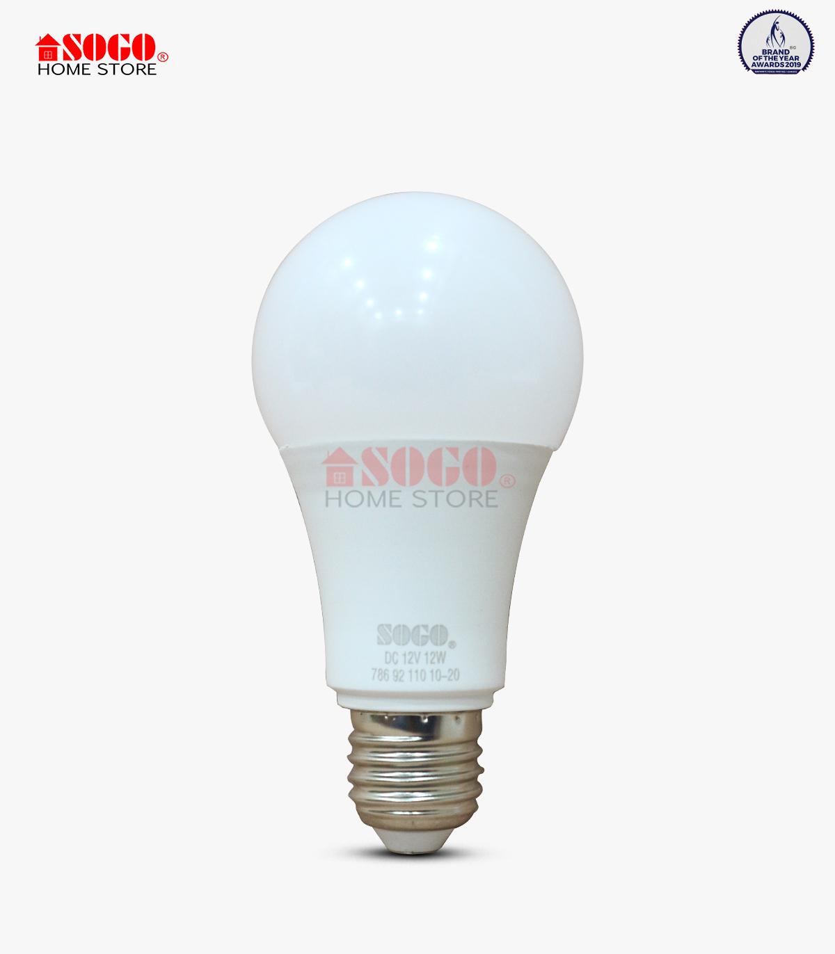Sogo Solar Dc (12 Volt)led Bulb 12watts (e27) Screw Type