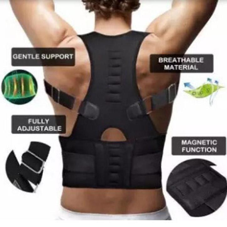 Magnetic Therapy Posture Corrector Body Back Pain Belt Brace Shoulder  Support: Buy Online at Best Prices in Pakistan | Daraz.pk