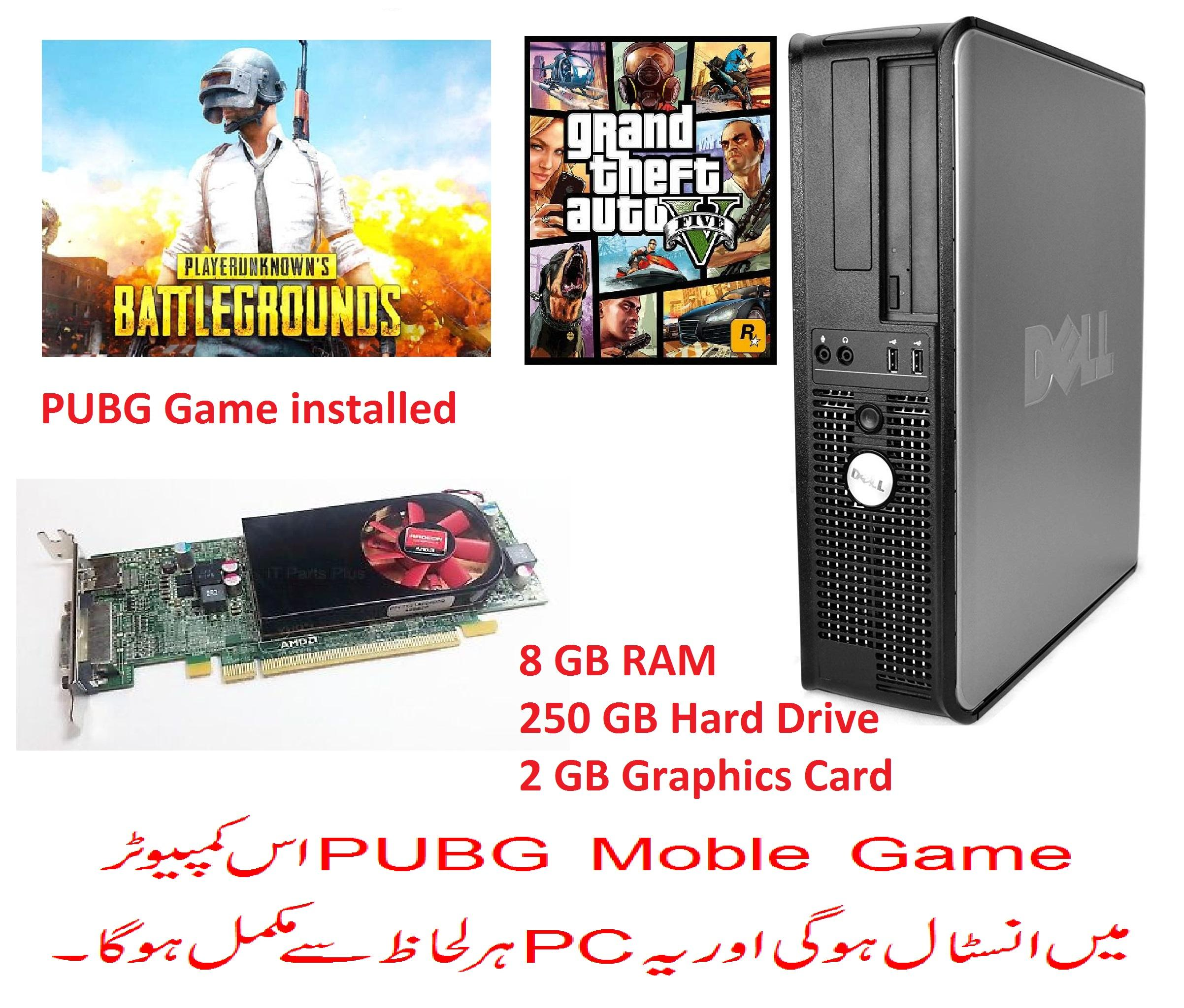 PUBG Gaming PC Optiplex 760 Desktop with 2GB Graphic Card and Plus 4 other  Games