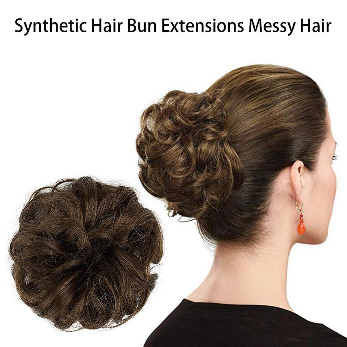 New Arrival Synthetic Bun Extensions Messy Scrunchies Hair Care Pieces for Women