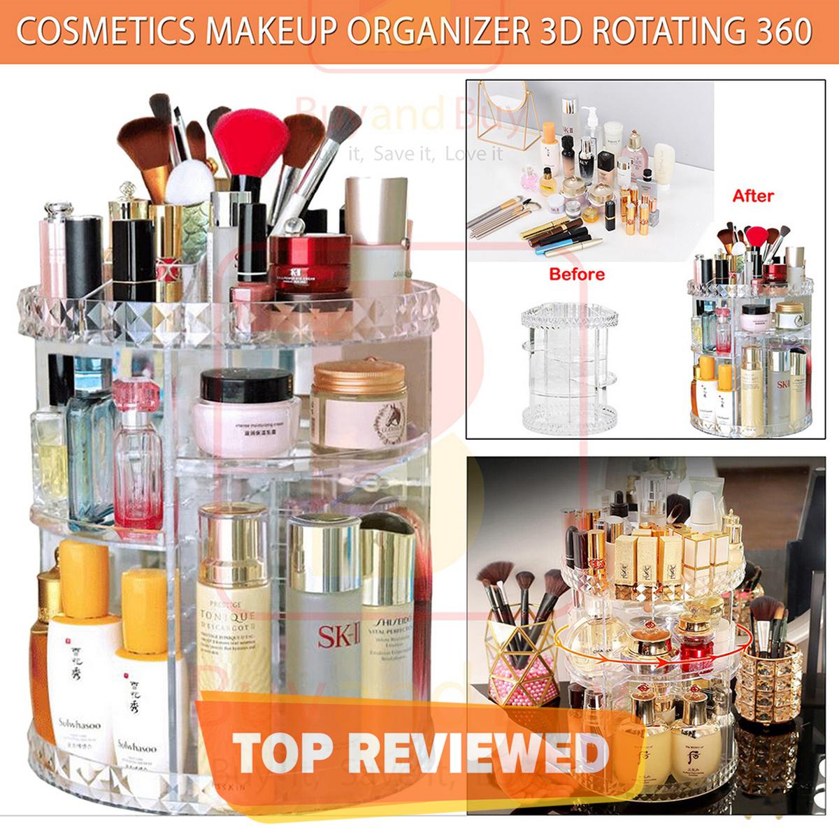 Cosmetics Makeup Organizer 3D Rotating 360