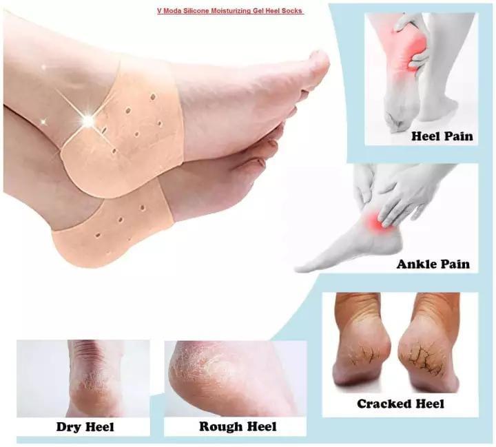 Heel Cups, Plantar Fasciitis Inserts, Breathable Heel Pads Cushion, Gel Heel Protectors for Men & Women, Idea for Plantar Fasciitis, Heel Pain, Heal Dry Cracked Heels, Achilles Tendinitis (1 Pairs)