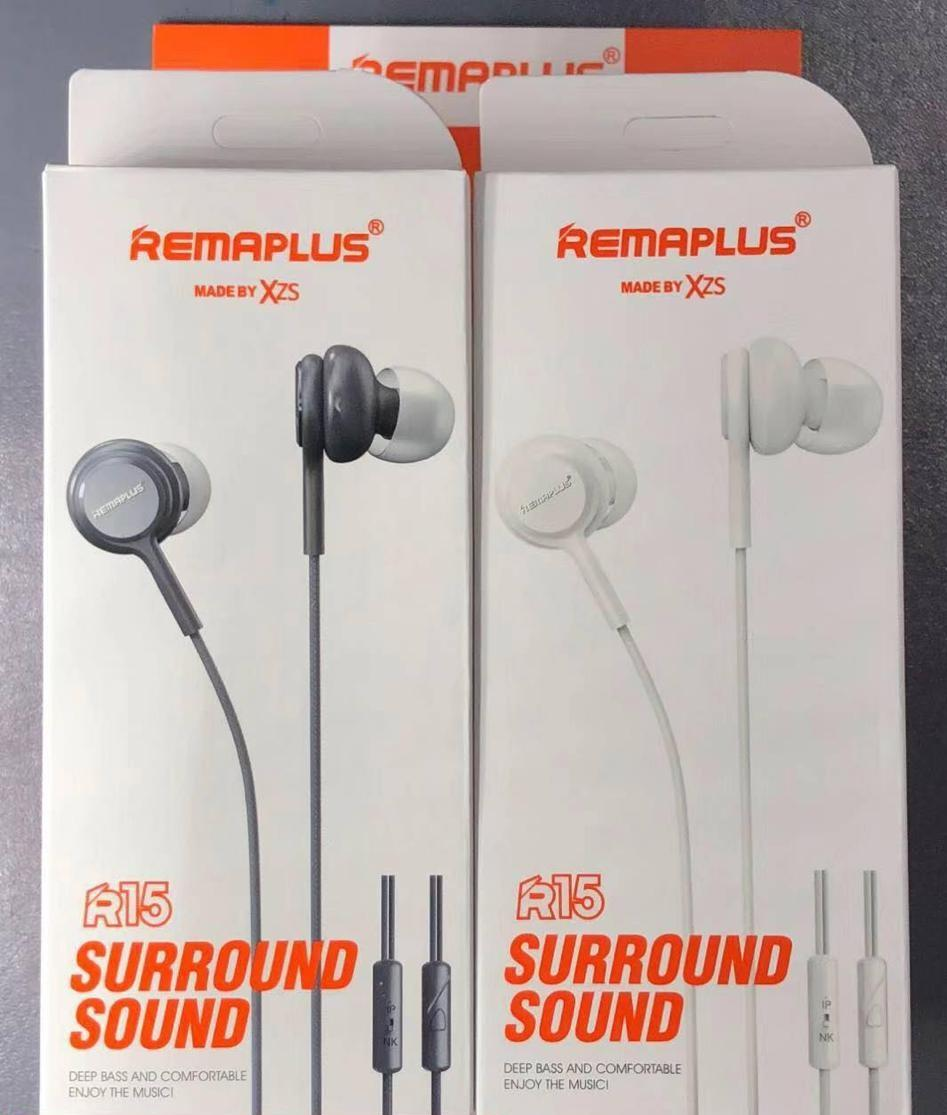 R 15 REMAPLUS Wired Handfree In Earphones With Bass (White)