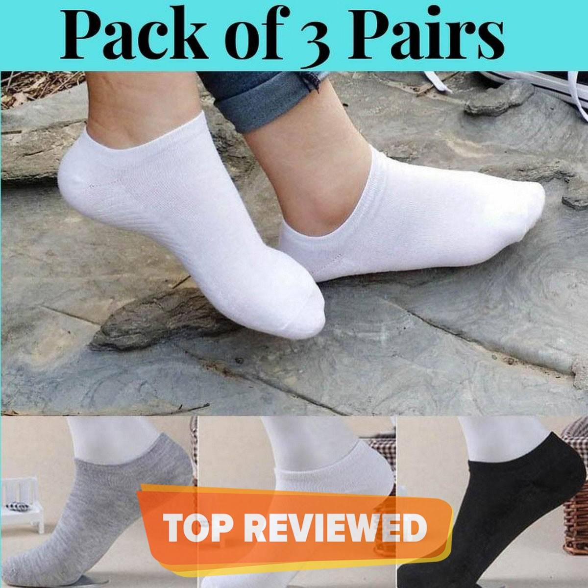 3 - 6 - 12 - 24 Pairs for Men and Women - Cotton Loafer Low Cut Socks