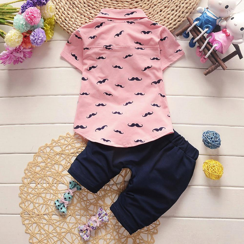 01e60f091b2 Rainbowroom 2019 Toddler Kids Baby Boys Beard T Shirt Tops+Shorts Pants  Outfit Clothes Set