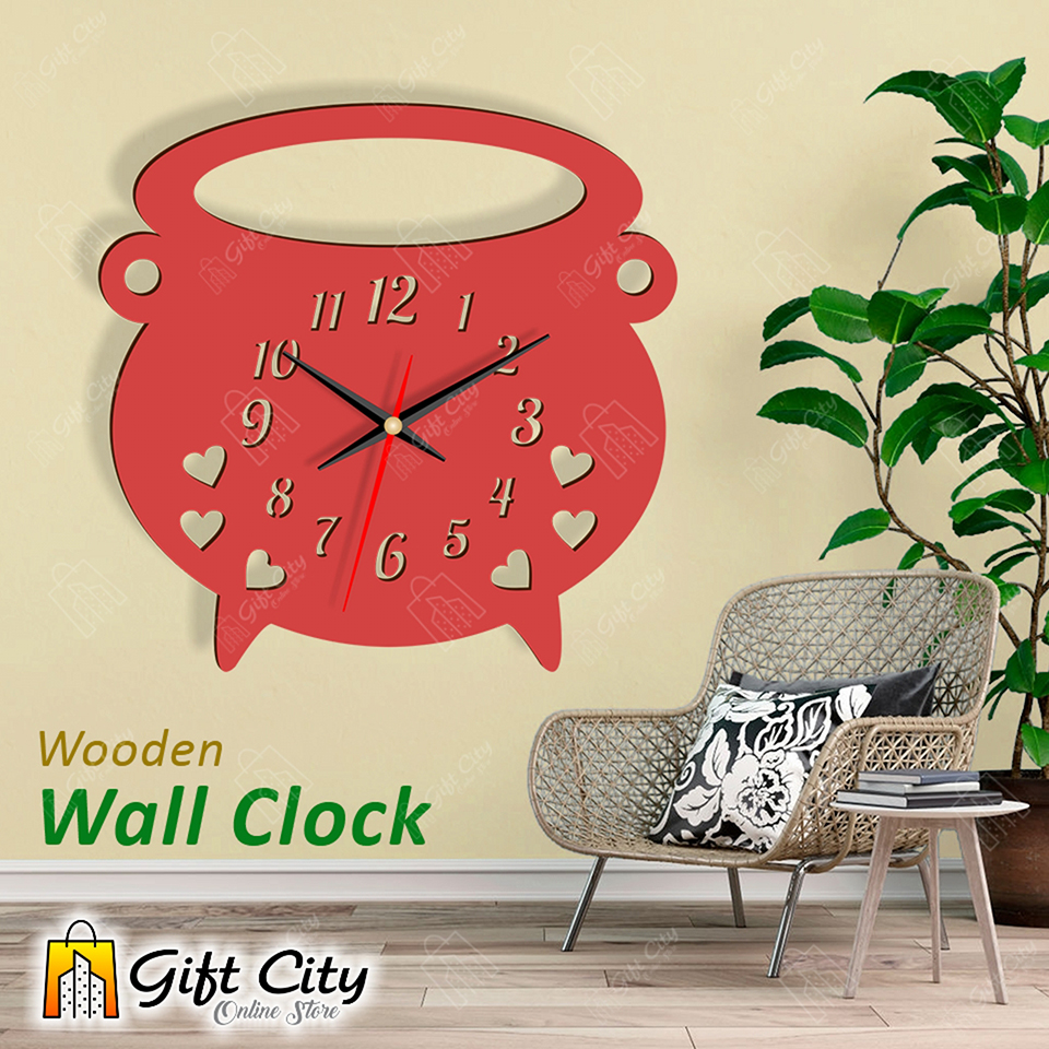 Kitchen Wall Clock Wooden Wall Clock 3d Modern Clock Laser Cut Clock Wall Clock Buy Online At Best Prices In Pakistan Daraz Pk