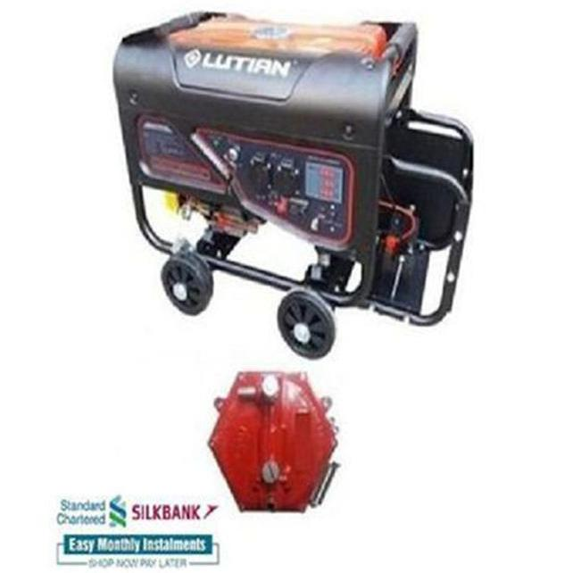LUTIAN Petrol n Gas Generator - 2 8 kW - LT3600ES - Self Start - with  Battery n Gas Kit - with Big Side Battery Stand