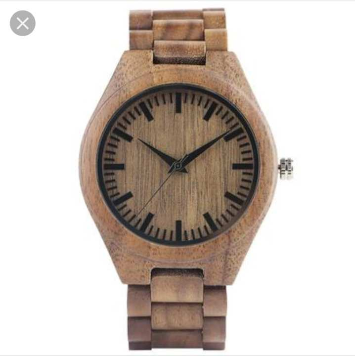 BROWN WOODEN ANALOG WATCH FOR MEN BY LINK EXPRESS