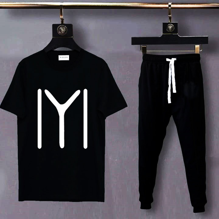 IYI New Printed T Shirt And Trouser Cotton Half Sleeves Tees Summer Collection Top Quality For Men