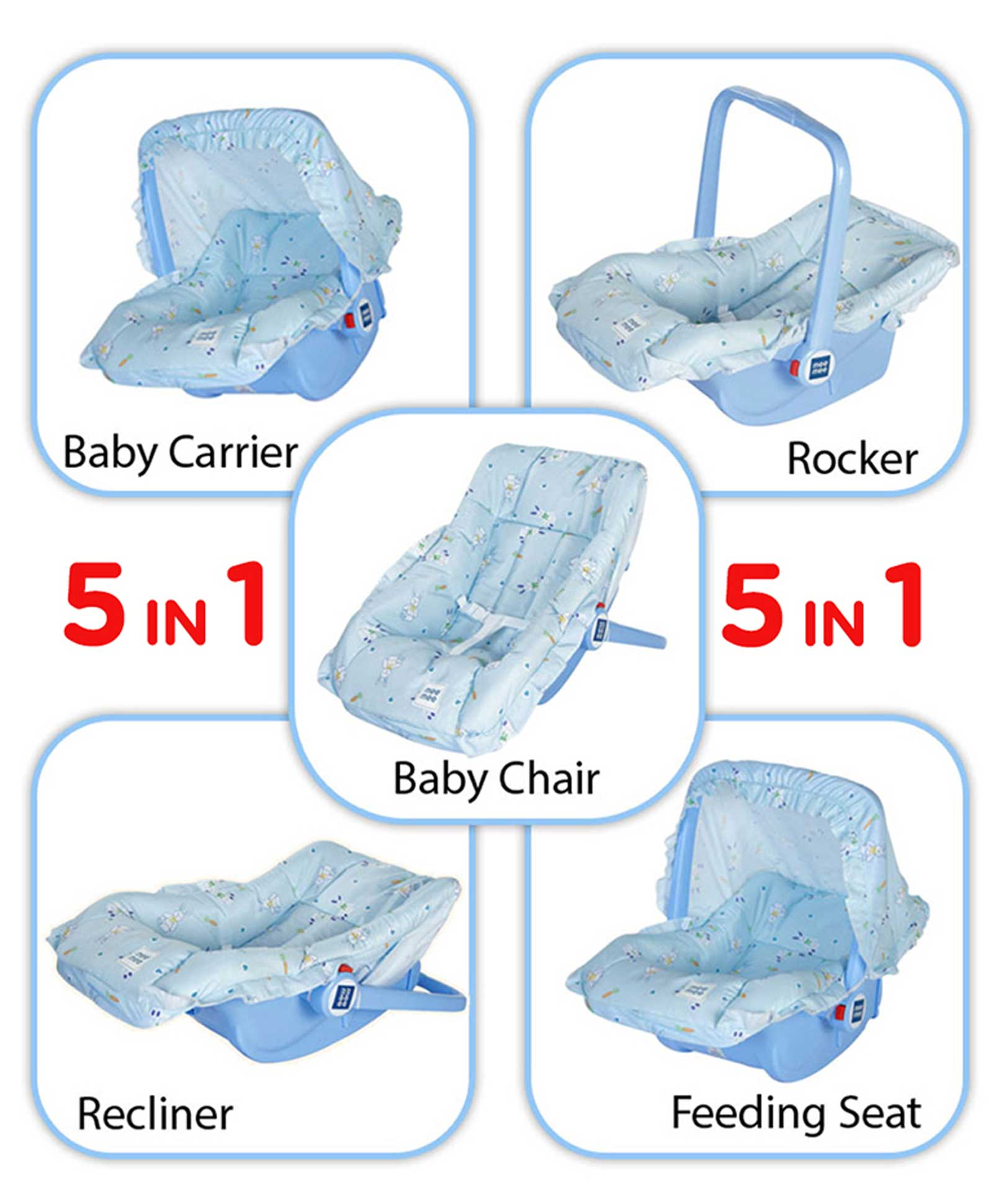 Fantastic Multifunctional Baby Carry Cot With Mosquito Net(Random colors)