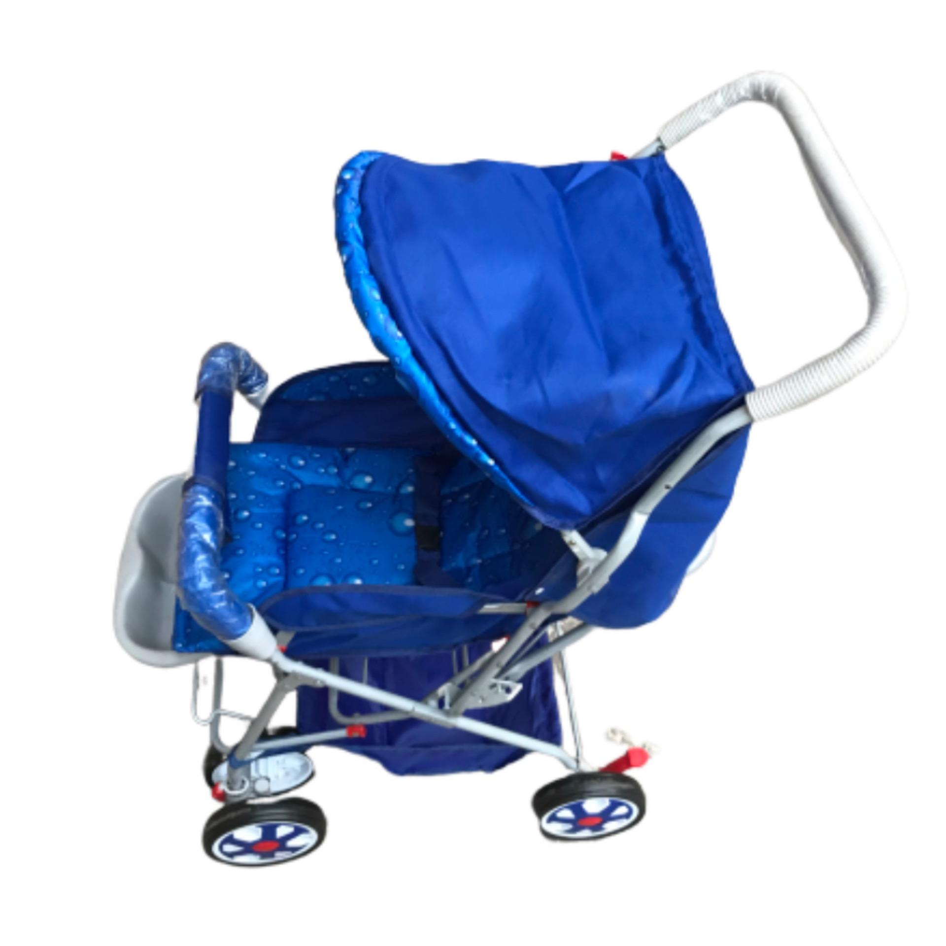 Alloy Foldable Baby Stroller Pram For Newborn  Blue/Red color with  6 Big Tyres