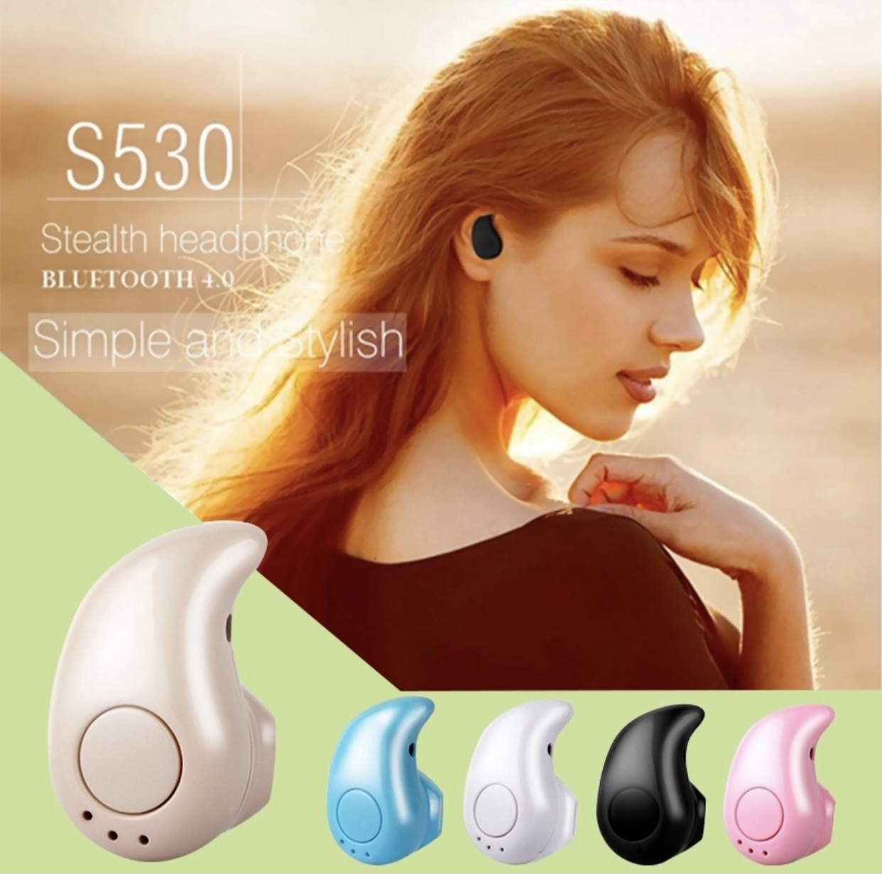 S530 Wireless Bluetooth Headphone Bt Earphone Sports Earbud With Mic Mini Invisible Sport Stereo V4.0 Stereo Wireless Headset For All Smart Phones