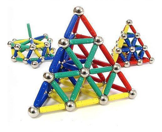 Magnetic Construction Set – 84 Pieces