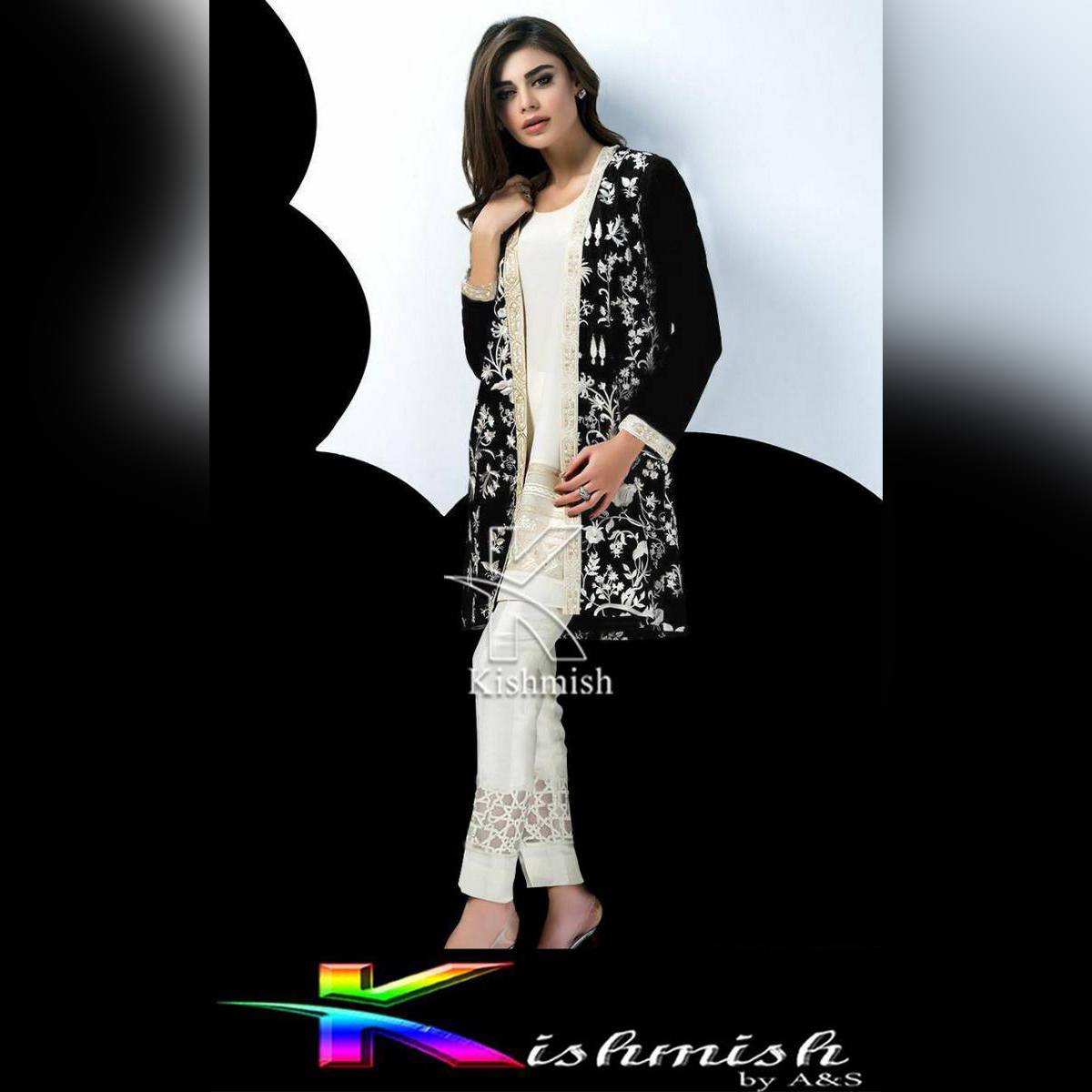 Kishmish Royal Embroidered Blazer (Coaty) for her by Festive Collection