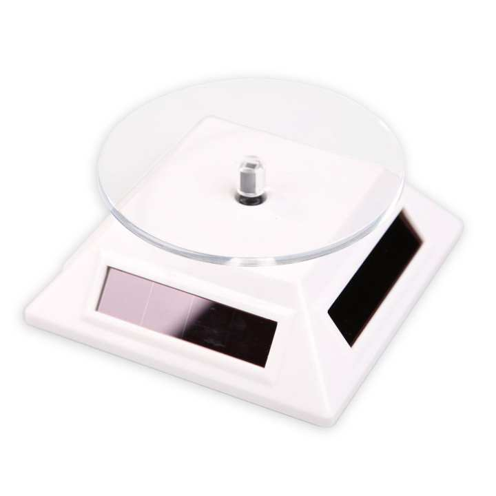 360 Degree Solar Powered Rotating Display Stand Jewelry Turn Table