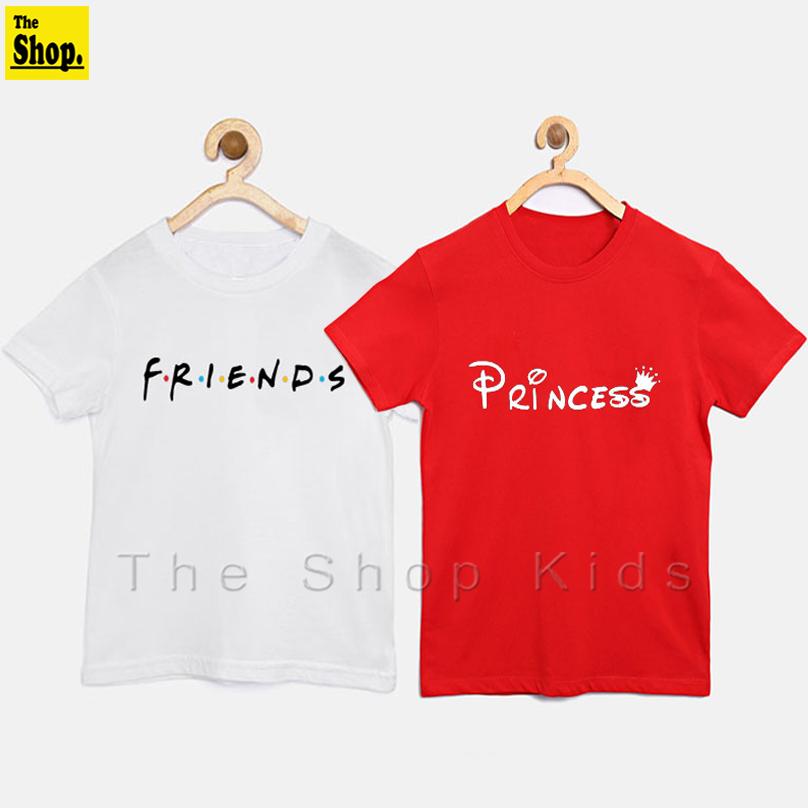 The Shop - Friends T Shirt & Princess T Shirt For Girls Kids - Wf-rp1