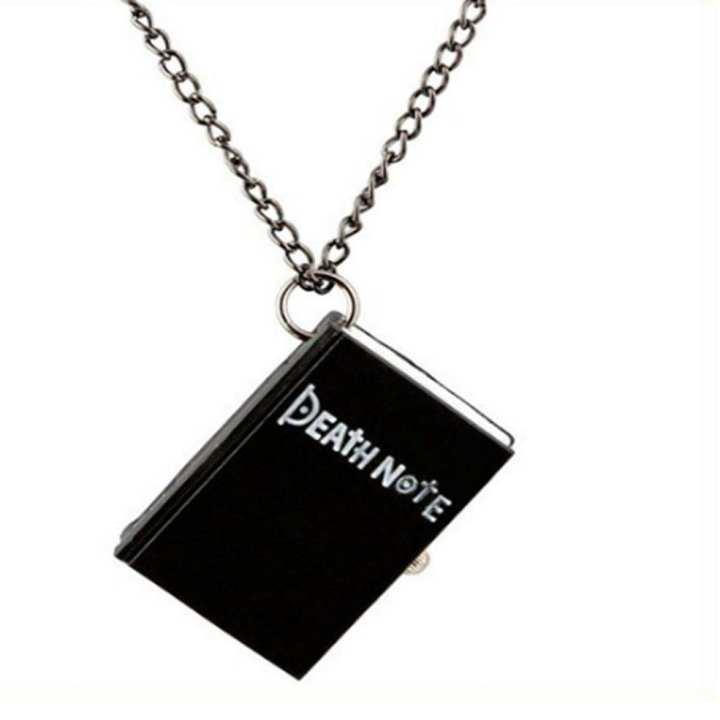 Notebook Decoration Design Dial Quartz Pocket Watch Necklace Pendant Clock