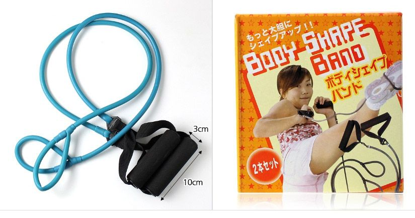 Rubber Resistance Elastic Band and Toning Tube For Body Fitness