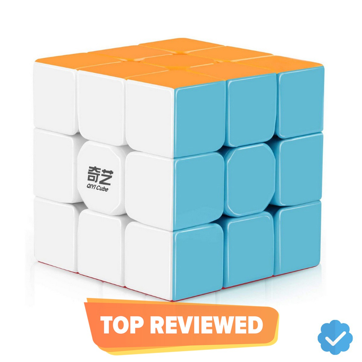 Qiyi Warrior S Rubiks Cube 3x3- Stickerless Magic Speed Cube 3x3x3 Puzzle Toys (56mm), The Most Educational Toy to Effectively Improve Your Child's Concentration, responsiveness and Memory - Rubik's Cube