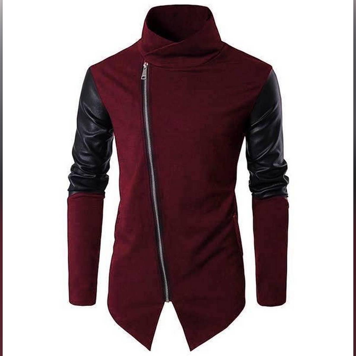 Oxygen Clothing Maroon Zipper Cardigan for Men