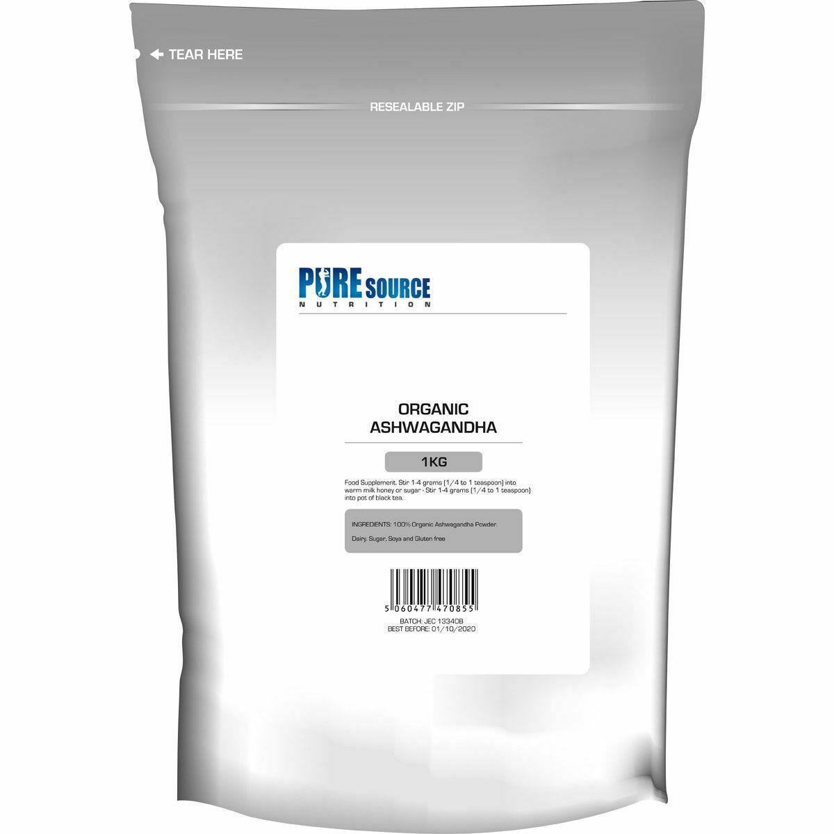 Organic Root Powder 114g Withania Somnifera RAW VEGAN EXTRACT