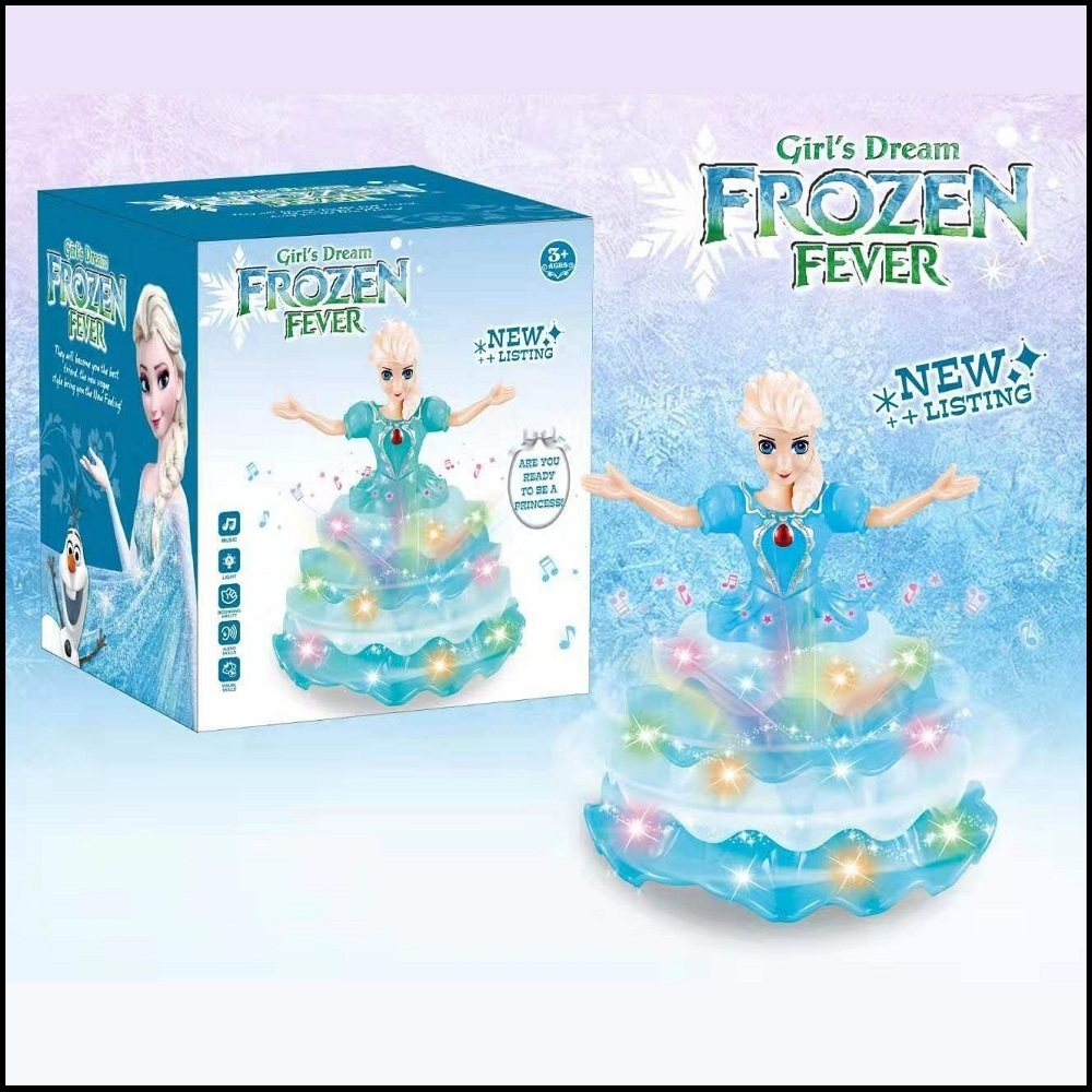 Girl's Dream FROZEN Fever, Flower Dress Dancing & Singing, Beautiful Rotating Princess Action Figure with Lights & Sounds Toys for Girls