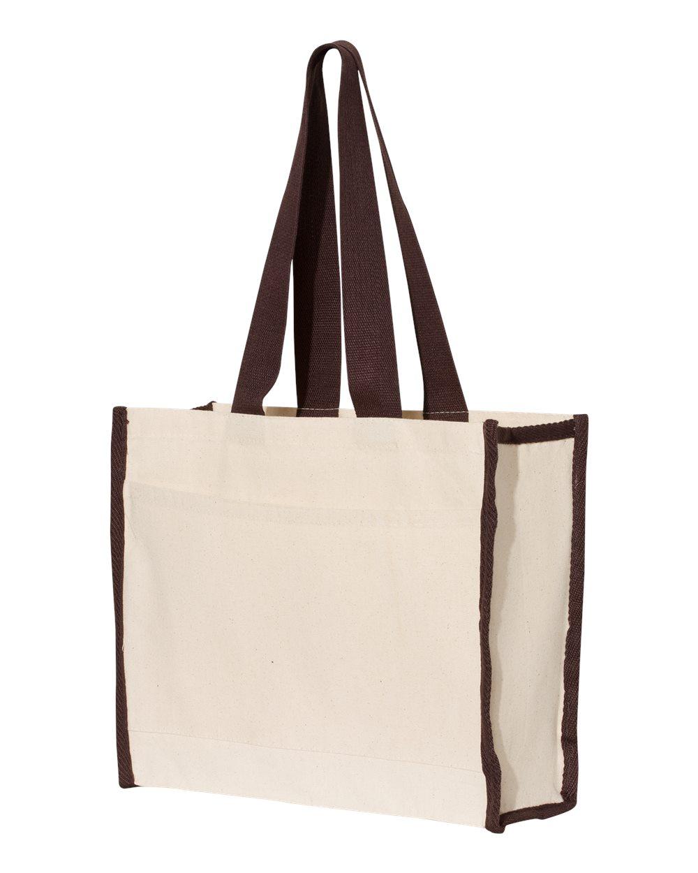 Heavy Canvas Contrast-Color Fancy Canvas Tote Bags