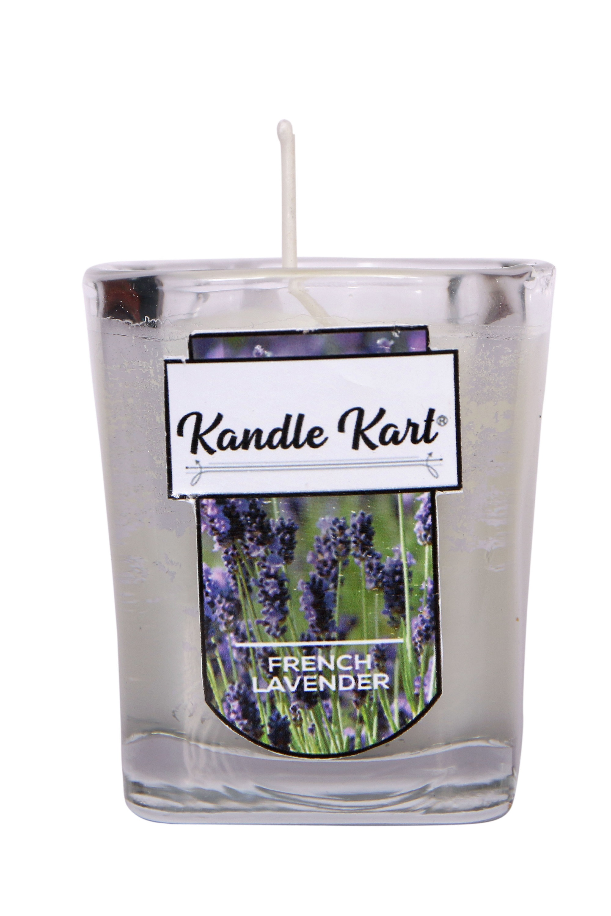 Kandle Kart Premium Scented Candle French Lavender  1.8 Oz Premium Grade Parrafin + Soy Wax