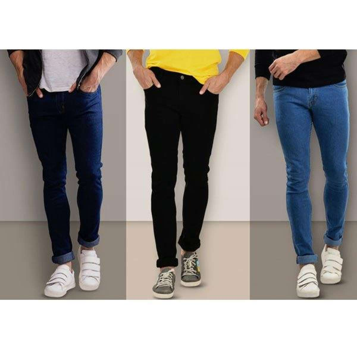 Pack of 3 Slim Fit Men Jeans AW