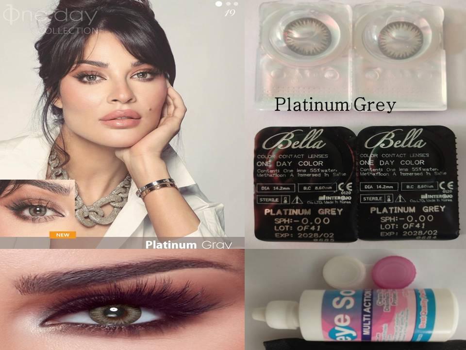 Bella Platinum Gray Color Contact Lenses with FREE KIT (100% Original)