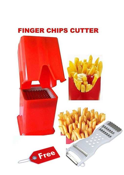 Plastic Potato Finger Chips French Fries Cutter - Multicolor