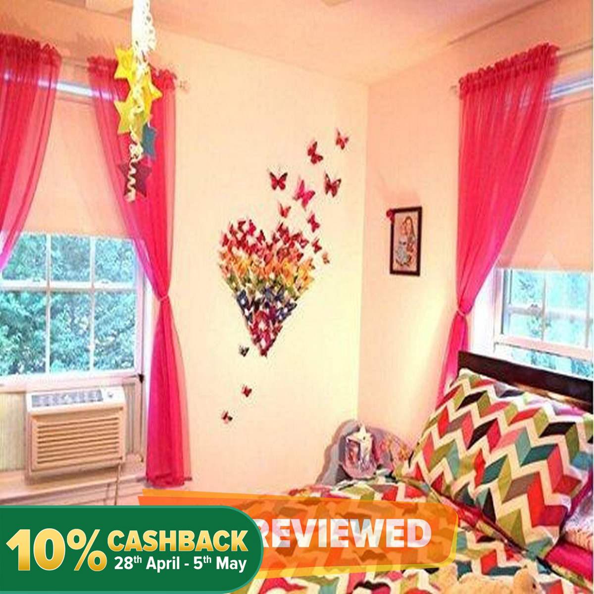 12 Pcs Butterfly Wall Stickers Decoration Magnet Butterflies on the wall DIY Wallpaper 3D PVC
