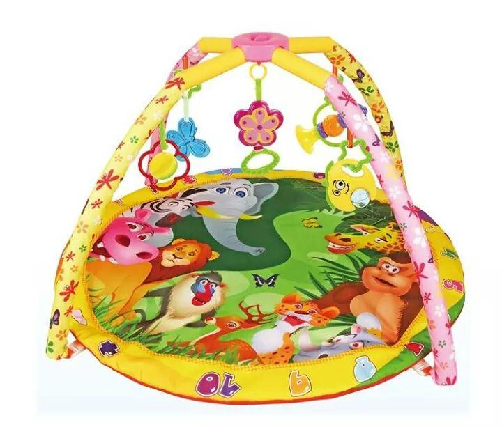 Beautiful Soft Stuff Baby Play Mat / Playing Gym With Rattle Toys